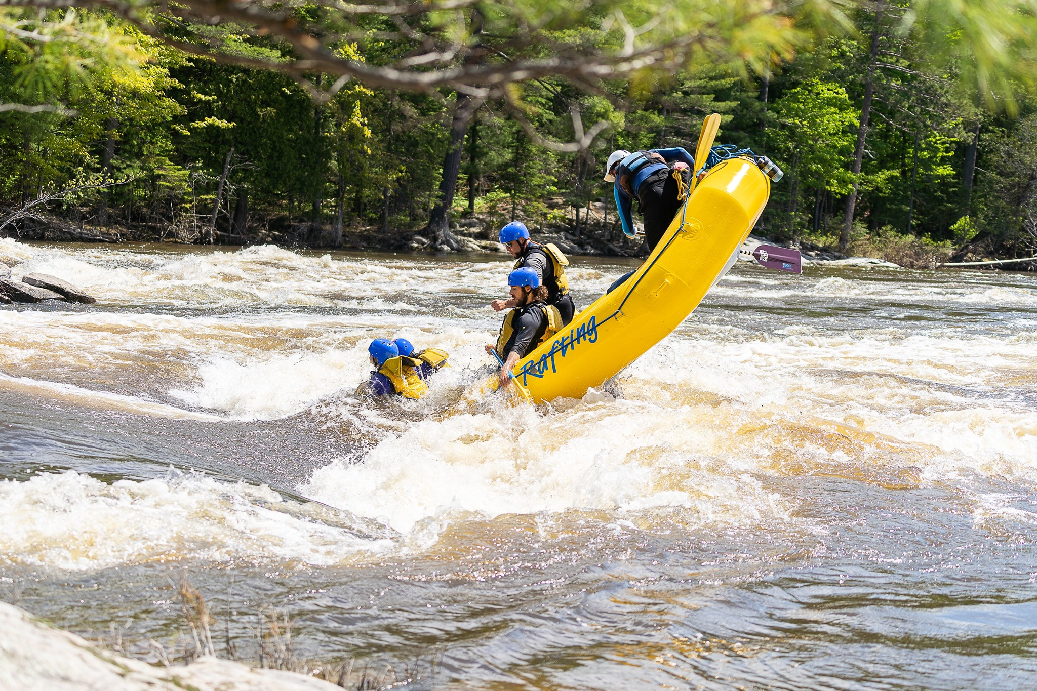 Image of white water rafting at Owl Rafting
