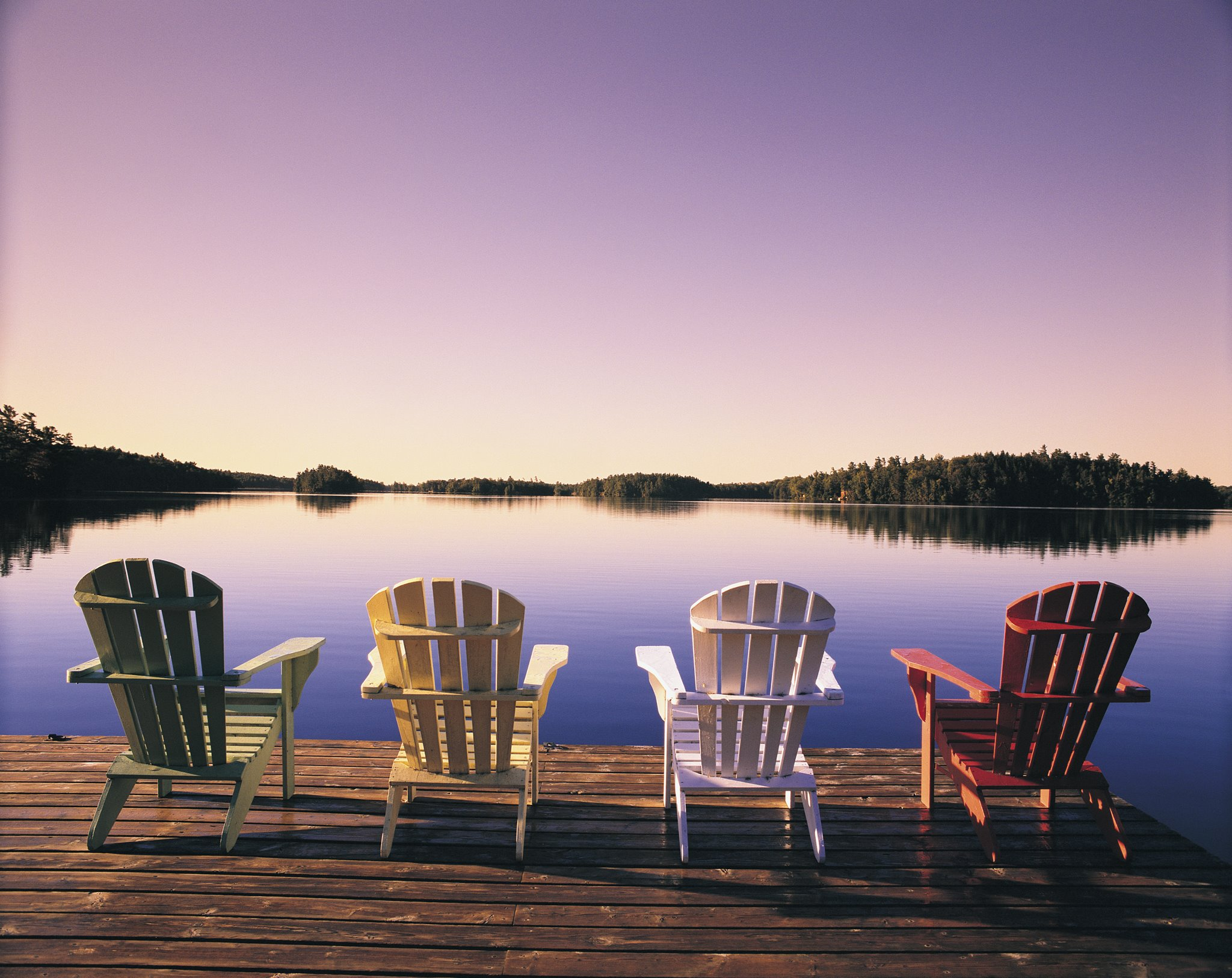 Image of Muskoka Chairs waterfront at Severn Lodge