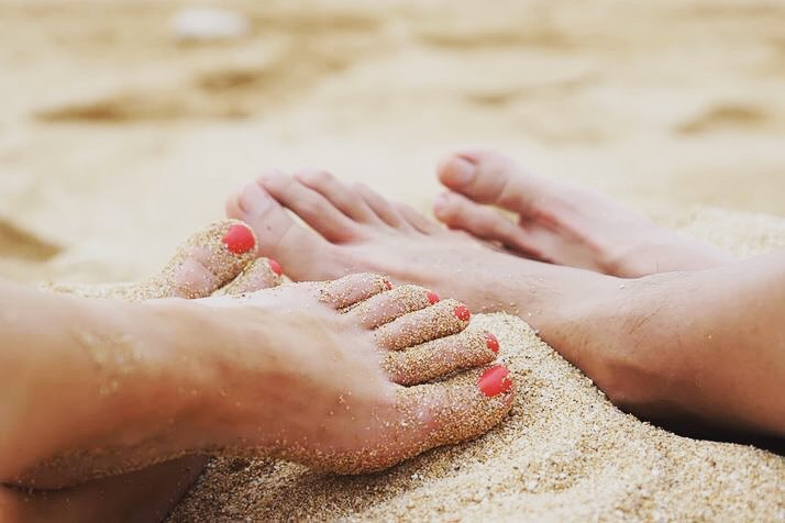 Image of feet in the sand