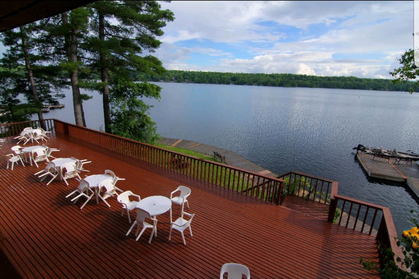 Image of a large patio dock overlooking the Lake