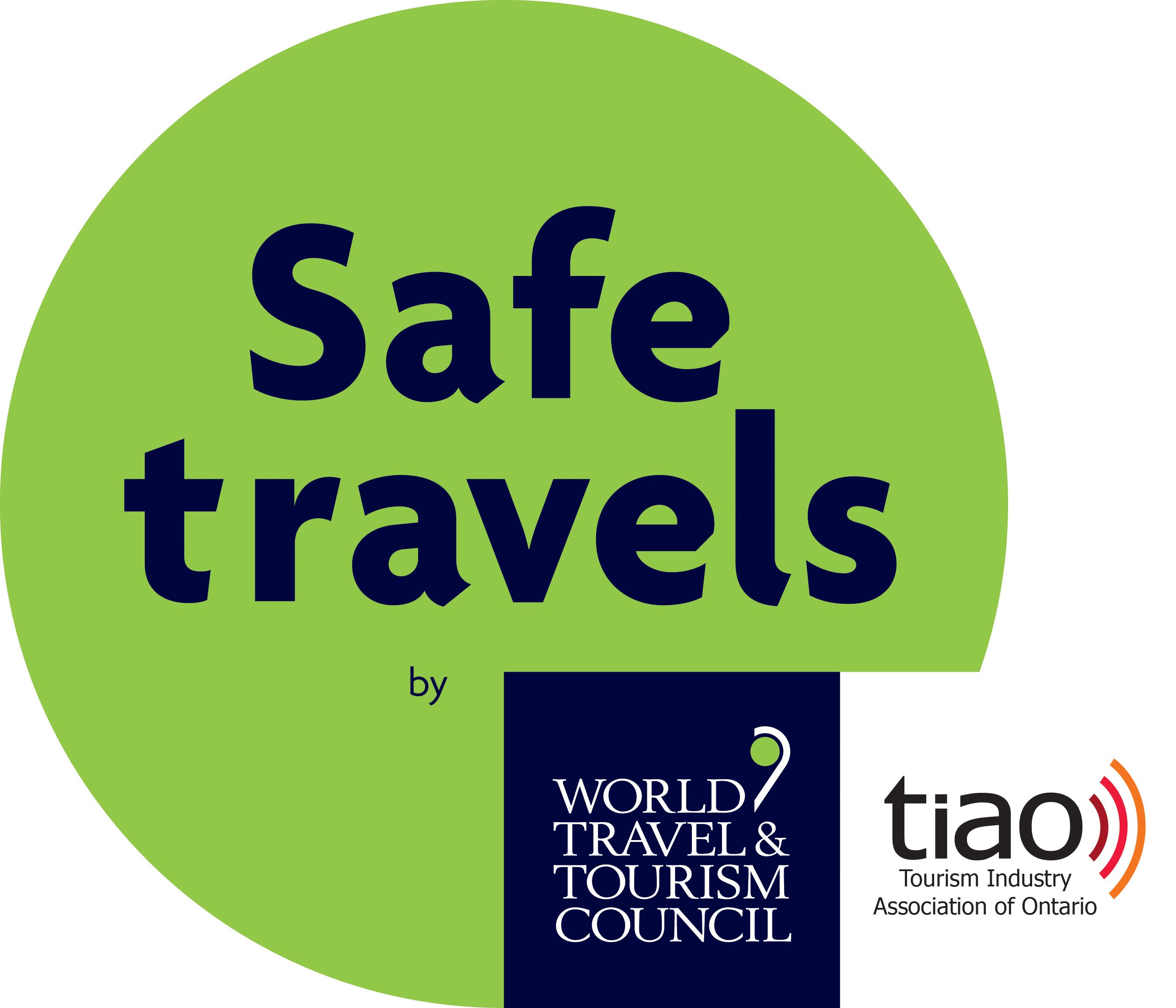 Image of a safe travel stamp